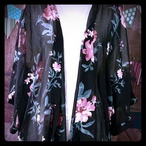 Tops - Sheer Kimono Type Shirt
